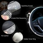 Diamond Leather Steering Wheel Cover-5