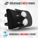 Soft Memory Foam Lumbar Support Cushion Pillow-2